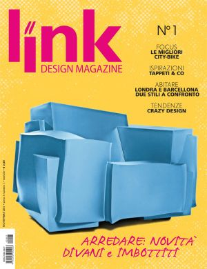 Esce in edicola domani link design magazine di edizioni for Rivista di design e produzione di mobili