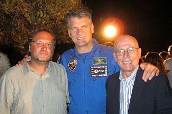 Notte con le stelle Francesco Pira  l'astronauta Paolo Nespoli e il giornalista Egidio Terrana (640x359)