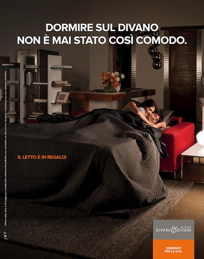 Divani divani by natuzzi torna in tv - Dormire sul divano ...
