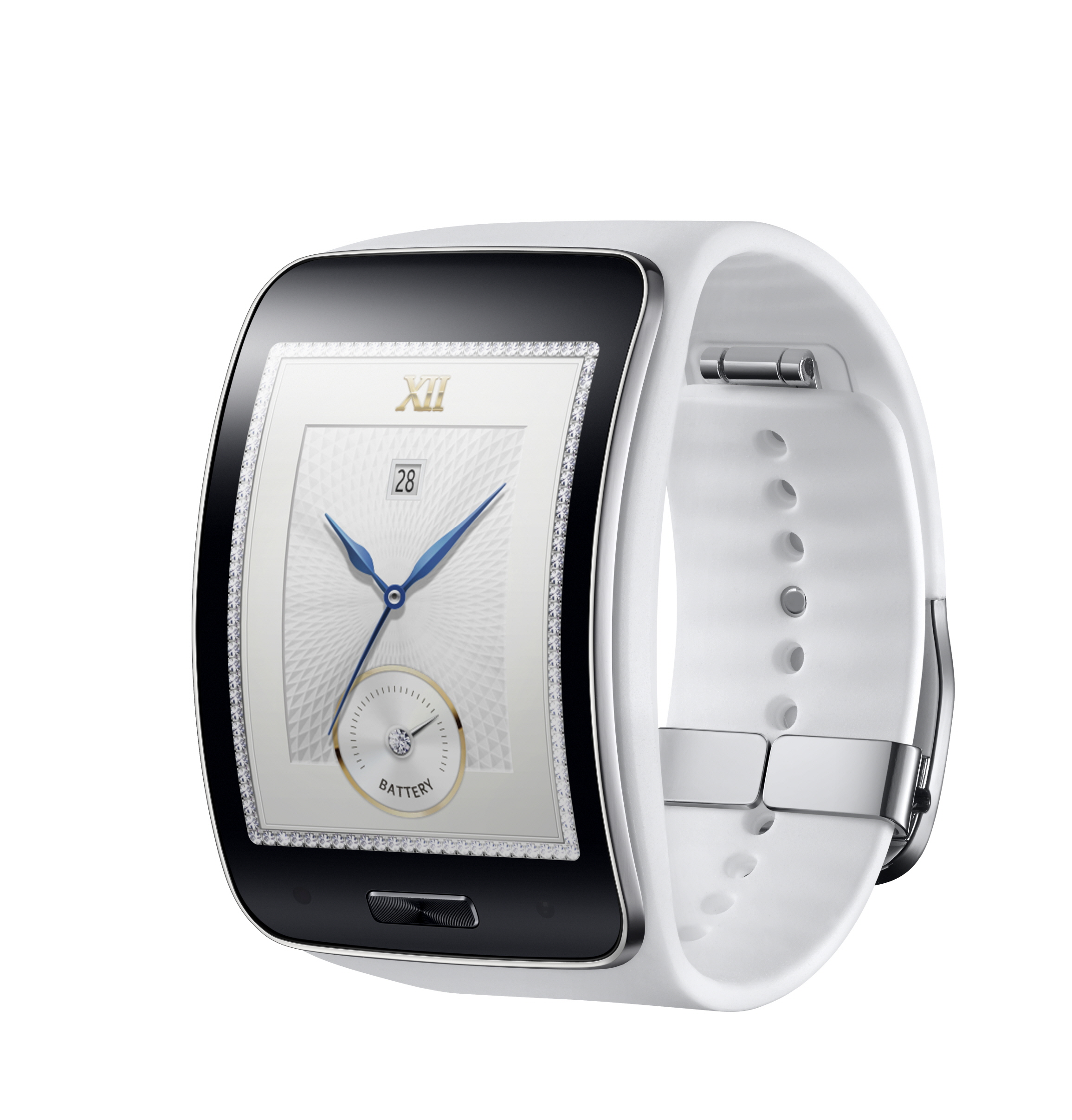 Samsung Gear S_Pure White_lateral
