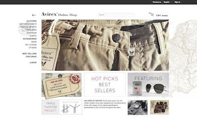 d34b31bdd755 Nuovo sito di e-commerce per Avirex