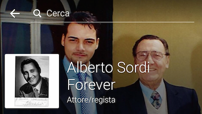 La pagina Facebook Alberto Sordi