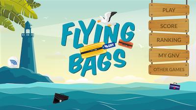 "GNV lancia la app ""Flying Bags"""