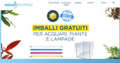 Online il nuovo sito di Aquashopping: il primo outlet dell'acquario in Italia