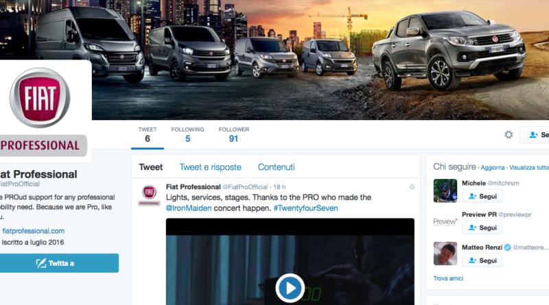 Fiat Professional lancia su Twitter il nuovo account