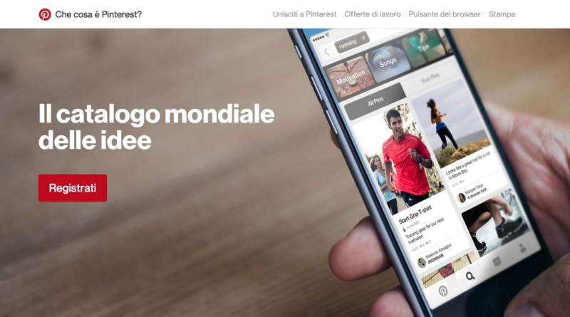 Dashboard per accedere a Pinterest