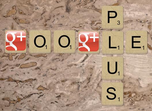 Gioco di parole per il logo Google plus