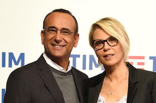 Sanremo. 67° Festival della Canzone Italiana. Conferenza stampa seconda giornata. Maria De Filippi e Carlo Conti
