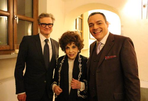 Il giornalista e conduttore radiotv Igor Righetti ha consegnato a Colin Firth e a Gina Lollobrigida