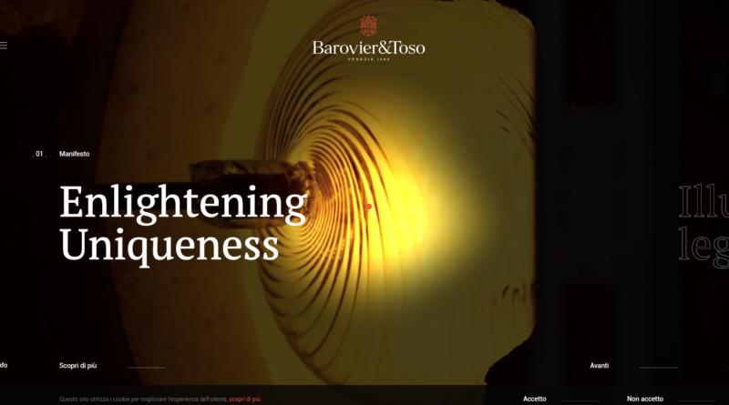 AQuest porta l'artigianato di lusso di Barovier&Toso su web e social