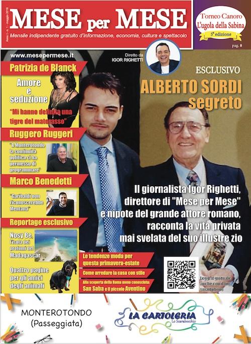 La cover del primo numero del mensile free press Mese per Mese