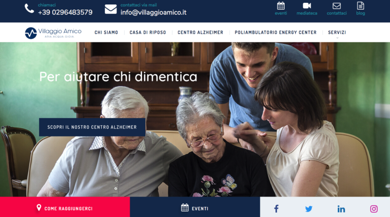 Villaggio Amico: online il nuovo sito web a prova di nonno