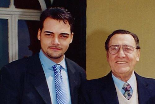 Igor Righetti con lo zio Alberto Sordi in un'immagine degli anni Novanta