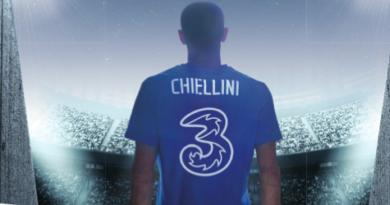 Giorgio Chiellini protagonista dello spot di 3