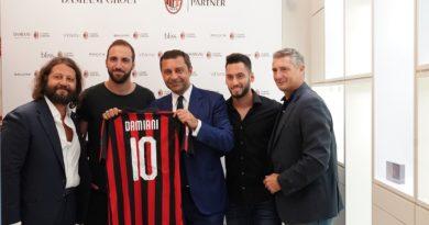 Il Gruppo Damiani diventaluxury partner del Milan