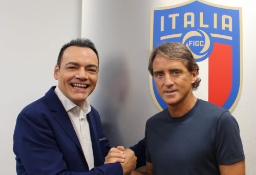 Igor Righetti con Roberto Mancini