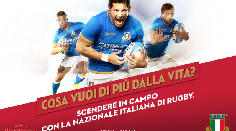 Amaro Lucano Sponsor Evento della Nazionale Italiana Rugby