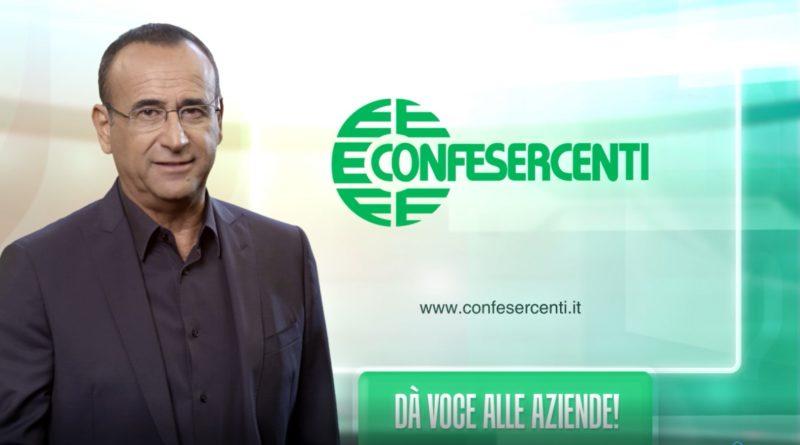 """""""Confesercenti dà voce alle aziende"""" con la campagna pubblicitaria con testimonial Carlo Conti"""
