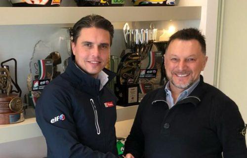 Fillippo Redaelli e Fausto Gresini