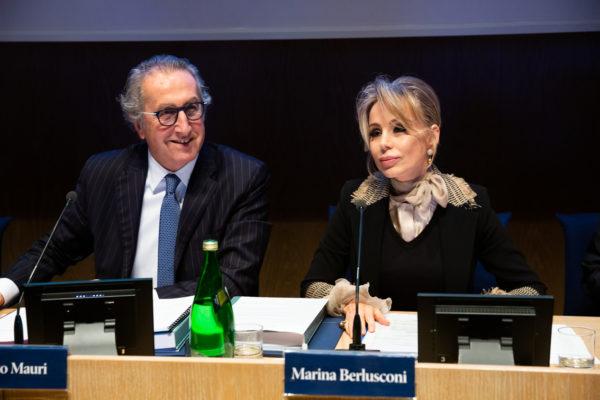 Ernesto Mauri - Marina Berlusconi Assemblea 2019