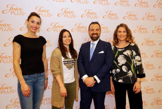 Fabio Fiorellino Regional Director Southern Europe Juice Plus+ con Di Francisca, Cardin e Dedaj