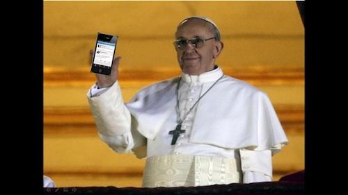 il-primo-tweet-del-papa