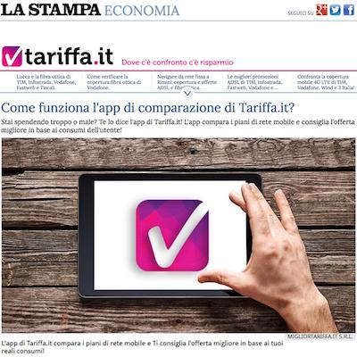 la stampa tariffa
