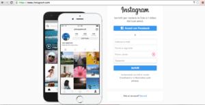 Dashboard per accedere a Instagram