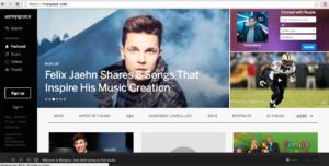La nuova Dashboard per accedere a Myspace