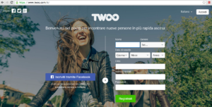 La dashboard per accedere a Twoo