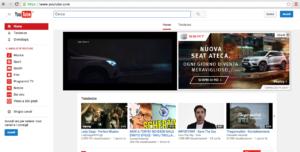Dashboard per accedere a Youtube