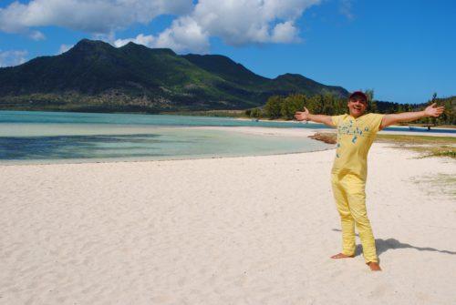 La spiaggia da sogno del resort Paradis