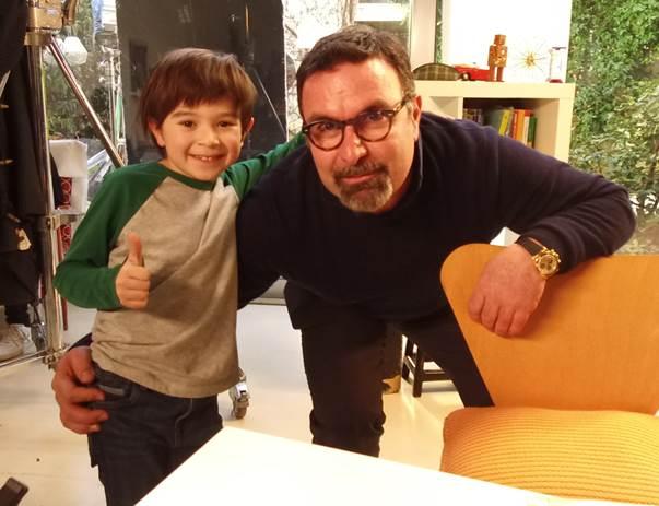 Giorgio Beretta con il piccolo attore Luca Morello