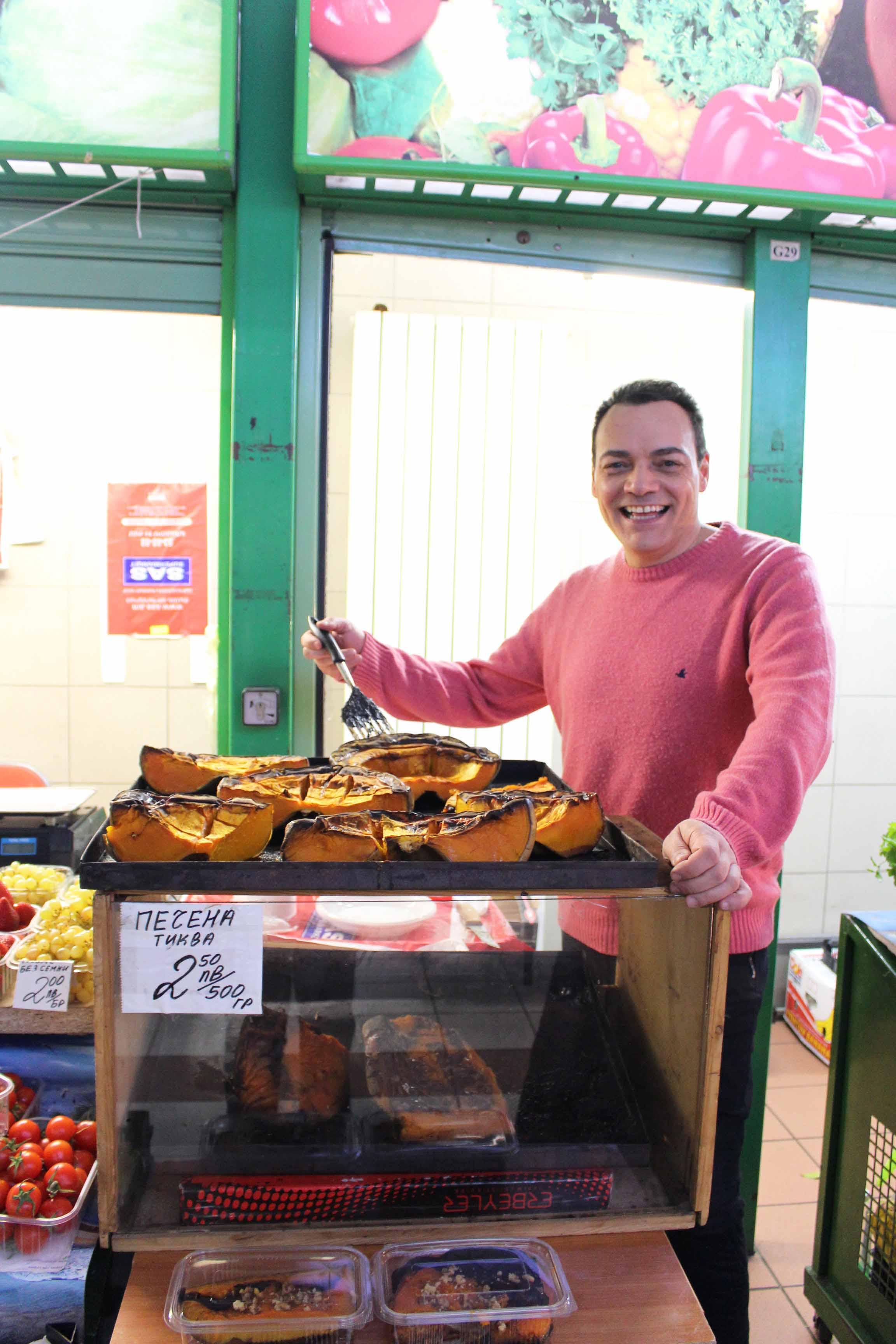 Al mecato coperto Central hali shopping centre si possono gustare anche le zucche al forno