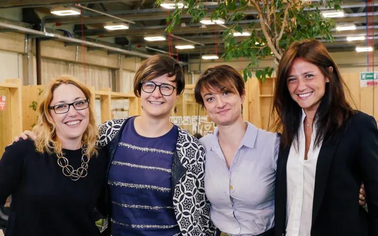 Da sinistra: Noa Segre, Elisabetta Pique', Adriana Versino, Marta Paini.